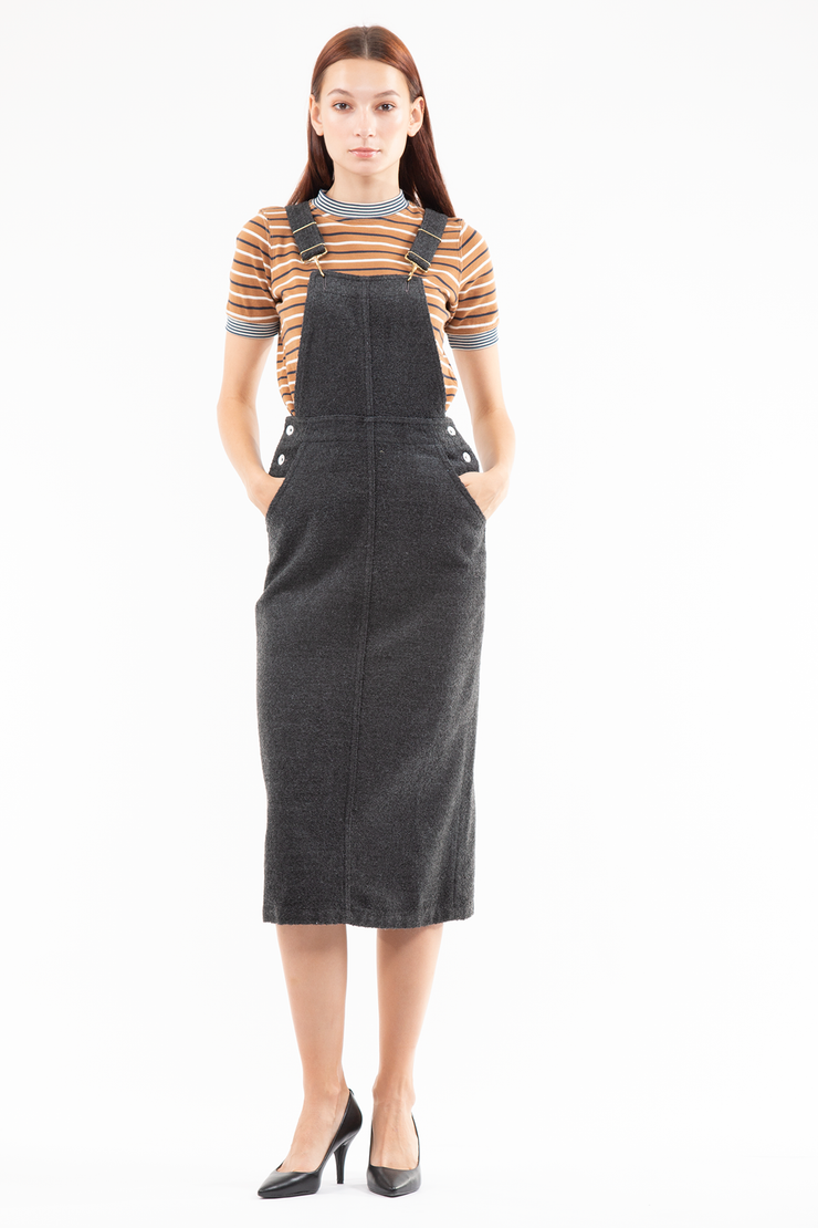 Kim Overall Dress in Waverly