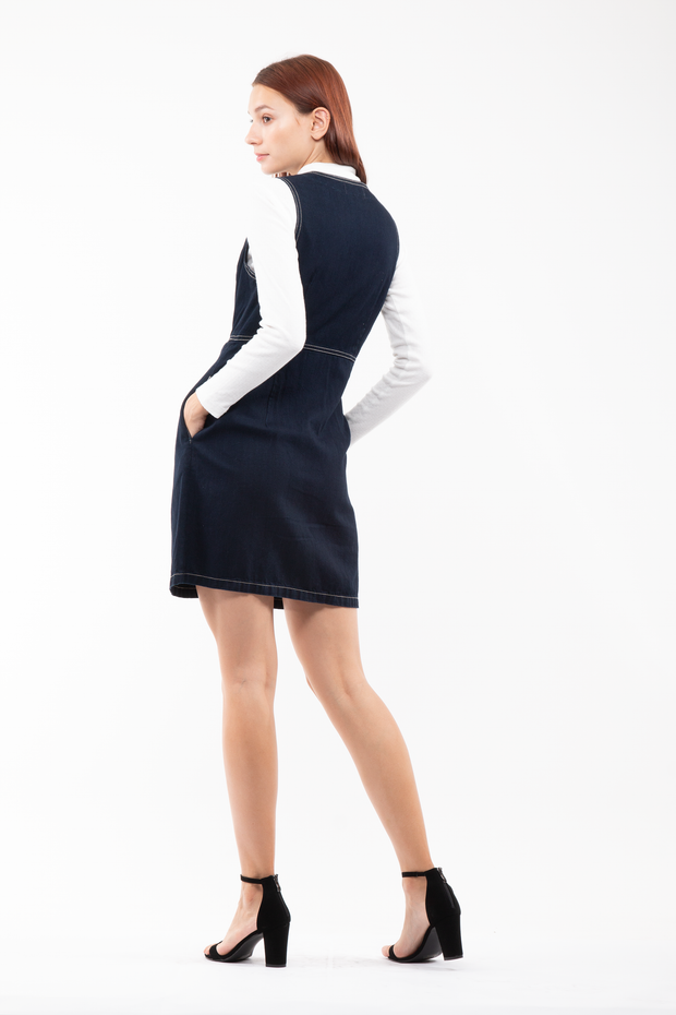 Patti Vest Minidress in Brew