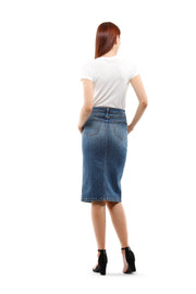 Ava  High Rise Skirt in Rise