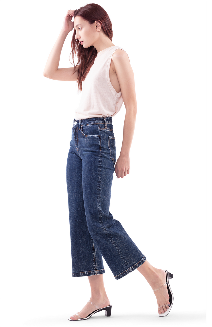 Susie Wide Leg Jeans in Rest