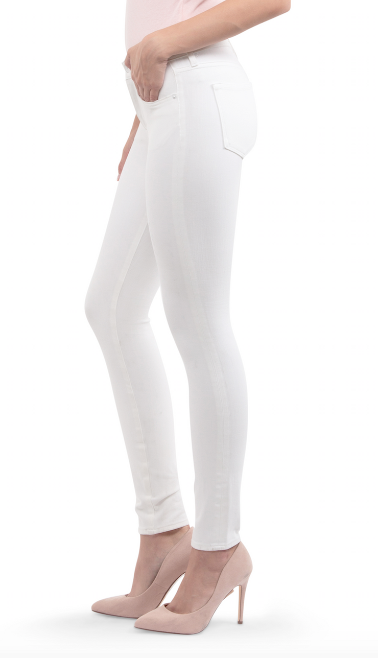 Hanna Mid Rise Skinny in White