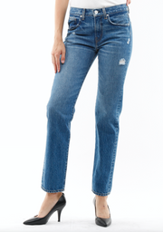 Sofia High Rise straight Jeans Rigid in rise