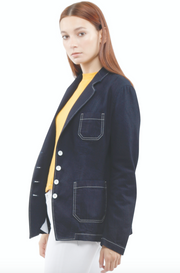 Amelia Patch pocket Jacket in Navy