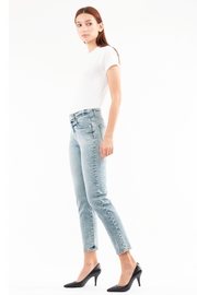 Sofia High Rise Straight jeans in Salt