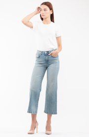 Susie Wide Leg Jeans in Salt