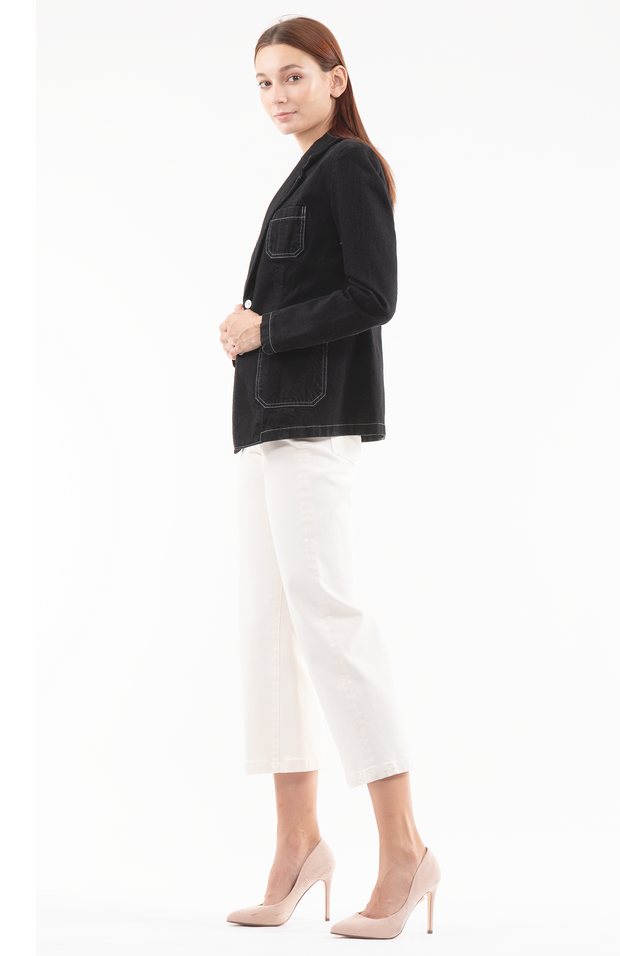 Patti Patch pocket Jacket in Black