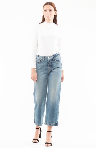 Susie Wide Leg Jeans in Labor