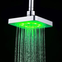 7 Color Square Changing Rainfall LED Shower Head