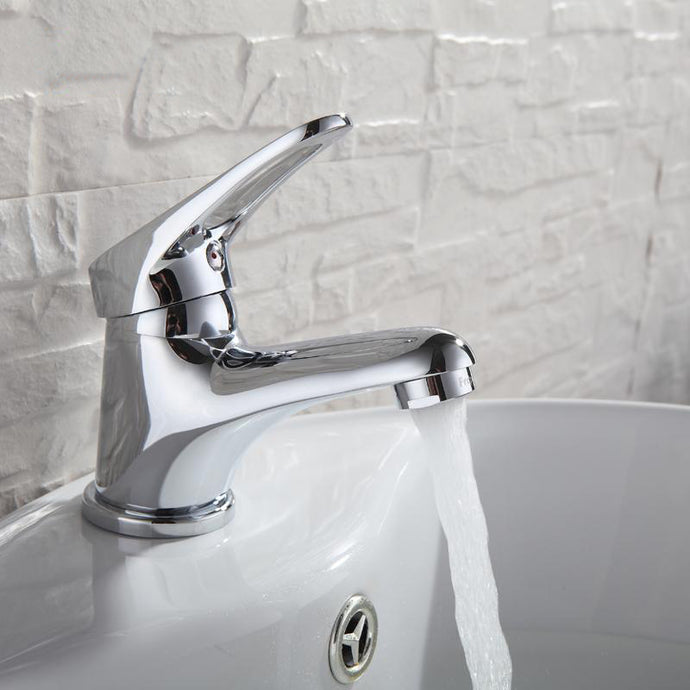 Bathroom Basin Faucet Brass Water Tap Chrome Finish