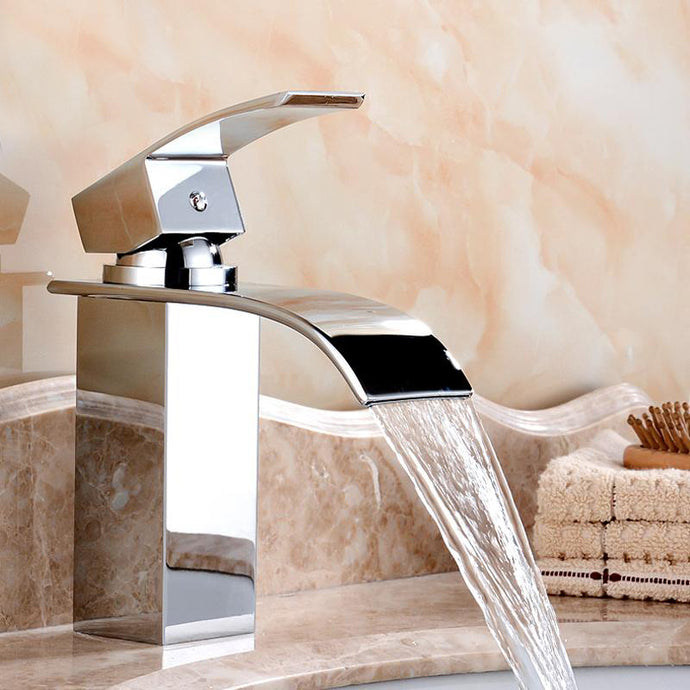 Waterfall Bathroom Faucet Cold And Hot Water Tap
