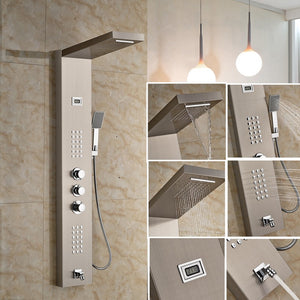 Bathroom Stainless Steel Shower Panel Wall Mounted One Handle