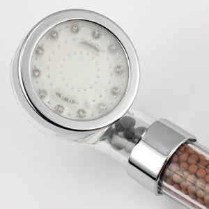 SPA 3 Colors LED Shower Head With Temperature Sensor