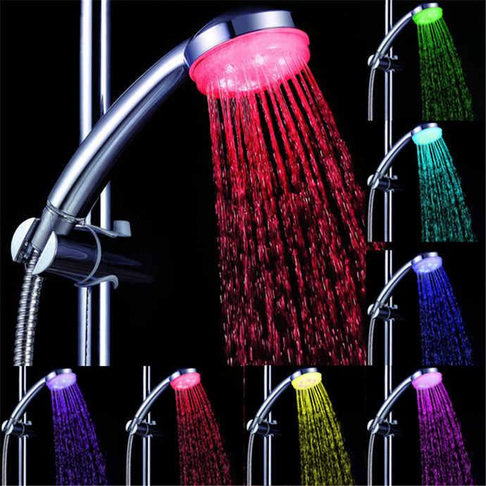 Temperature Control 3 Colors Romantic LED Shower Head