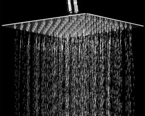 "Modern Square Chrome Stainless Steel 8"" Rainfall Shower Head"