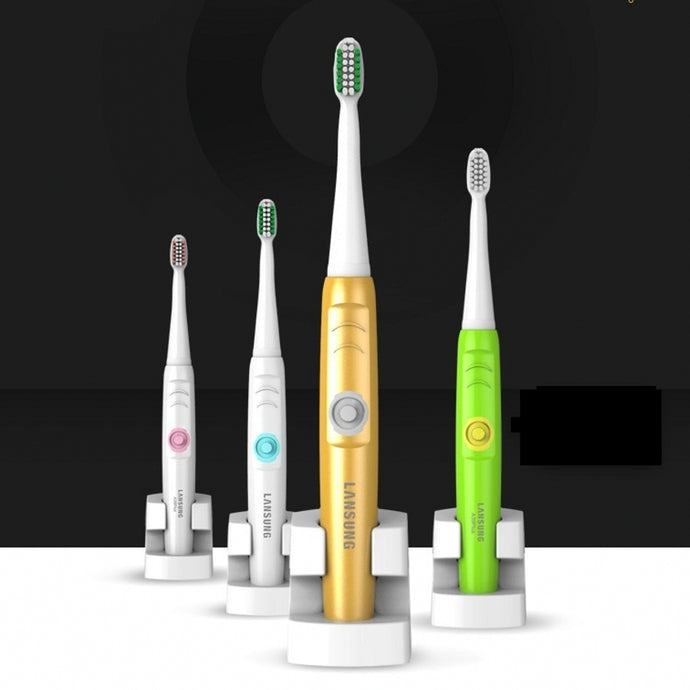 Ultrasonic Electric Toothbrush Rechargeable 4 Heads