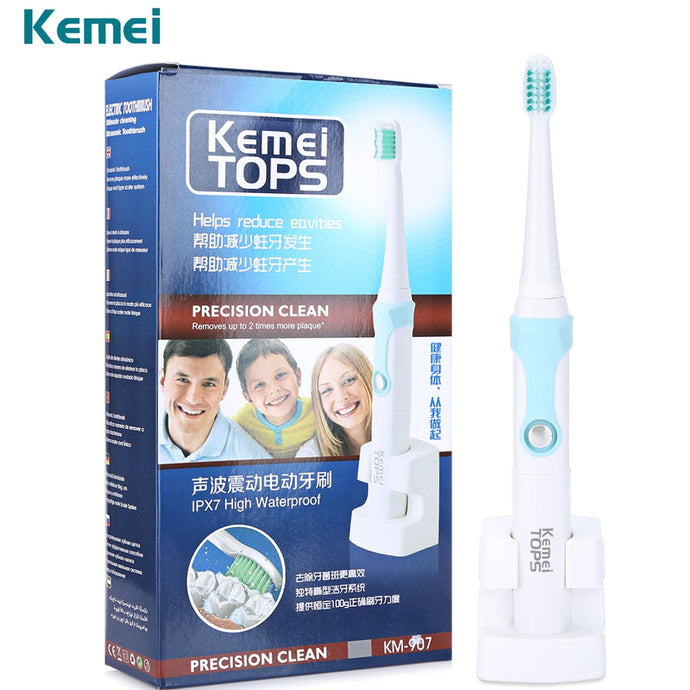 Electric Toothbrush With 3 Heads Rechargeable Ultrasonic Waterproof