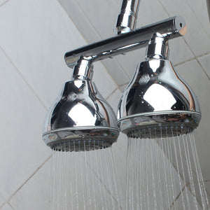 Dual Shower Head Finished in Chrome