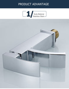 Silver Waterfall Bathroom Faucet