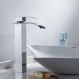 Unique Styled Waterfall Bathroom Faucet