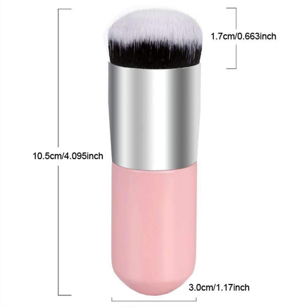 ELECOOL | Single Round Makeup Blush Brush | Chubby Pier Foundation Brush Make Up