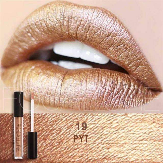 FOCALLURE #19 PYT  | Waterproof Matte Lip Gloss Liquid Lipstick Moisturiser
