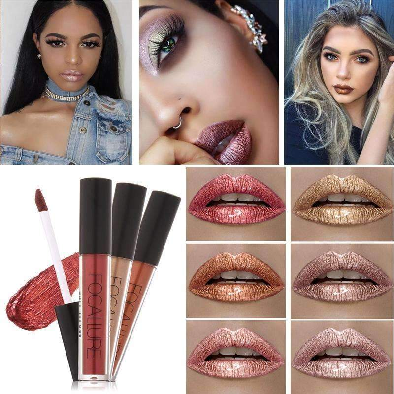 FOCALLURE METALLIC #17  | Waterproof Metallic Lip Gloss Liquid Lipstick Moisturiser