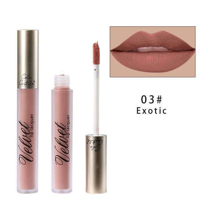 VELVET METALLIC #03 | Waterproof Metallic Matte Lip Gloss Liquid Lipstick Moisturiser