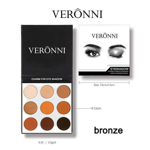 VERONNI | BRONZE PALETTE KYSHADOW  |  Full Professional Makeup Cosmetics For Eye