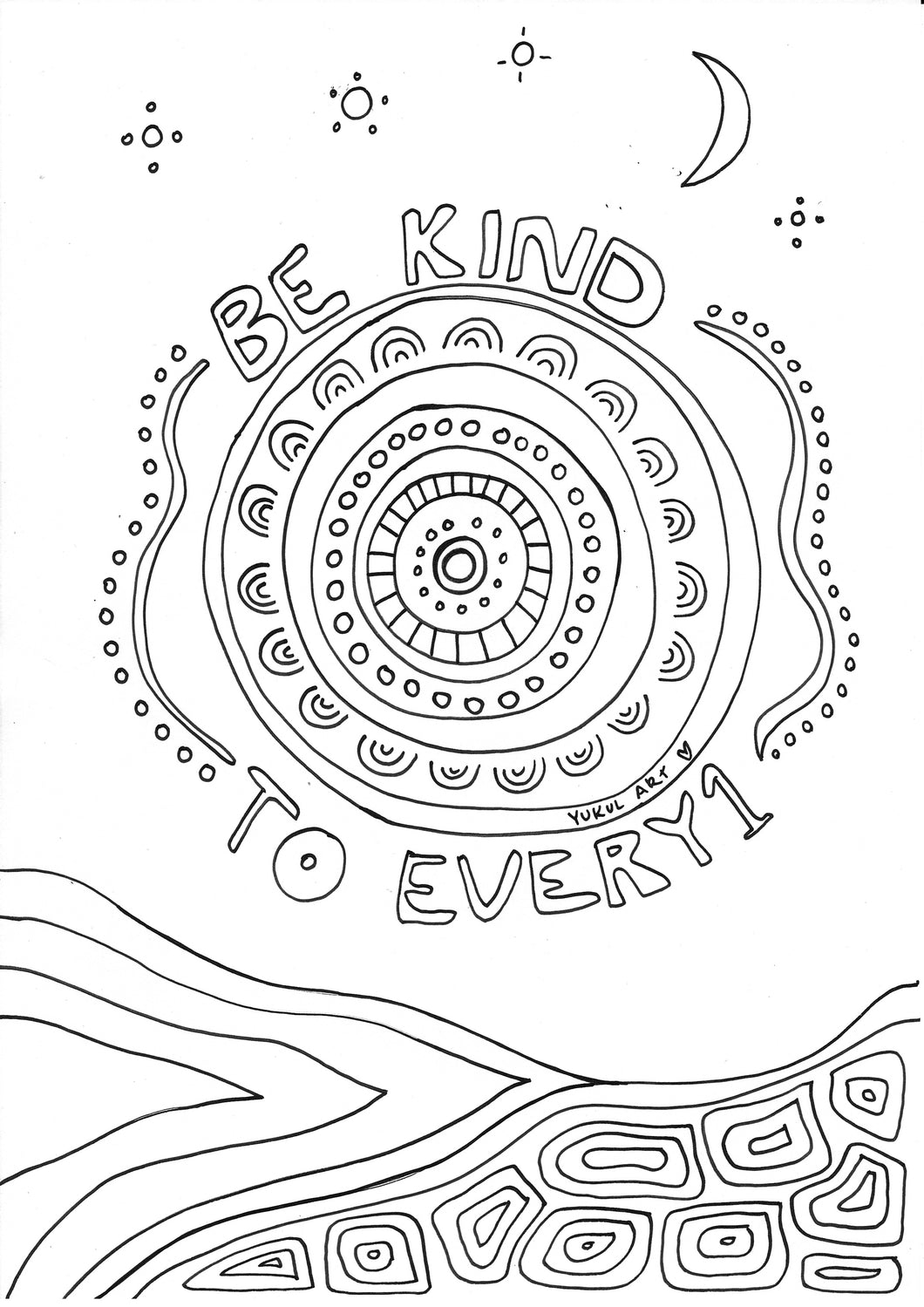 Be kind to every1 colouring in page (FREEBIE)