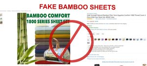 Beware of Fake Bamboo Bed Sheets