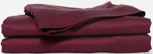 burgundy bed sheets Set