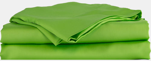 green bed sheets