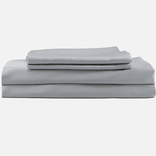 grey bed sheets