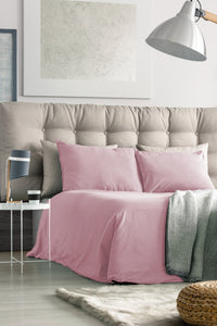 100% Organic Bamboo Bed Sheet Set - Rose Pink