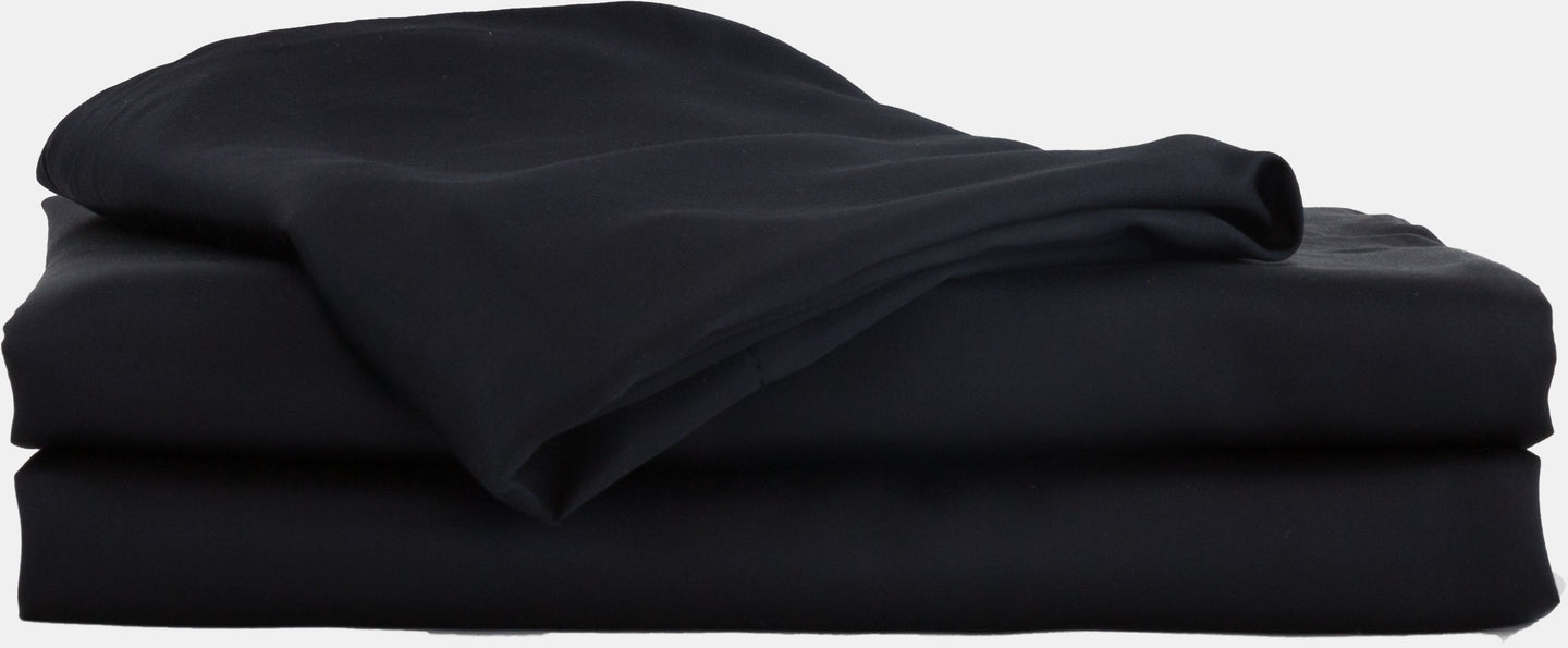 100% Organic Bamboo Bed Sheet Set - Black