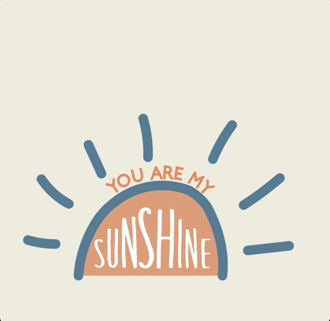 You are my Sunshine- navy