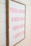 You'll Never Know Dear How Much I Love You - Pink