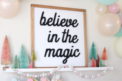 believe in the magic - black & white cutout