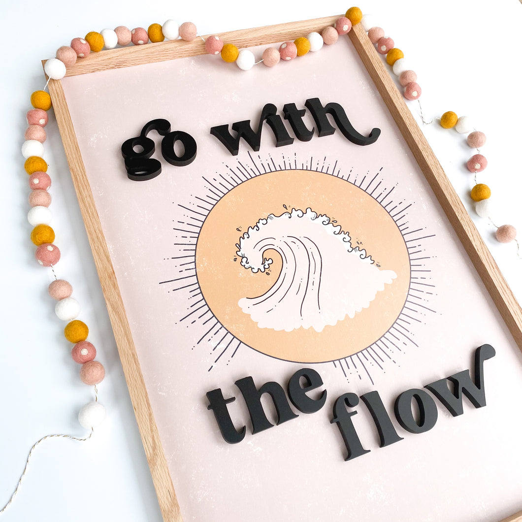 Go with the flow- tan wave ( without floral)