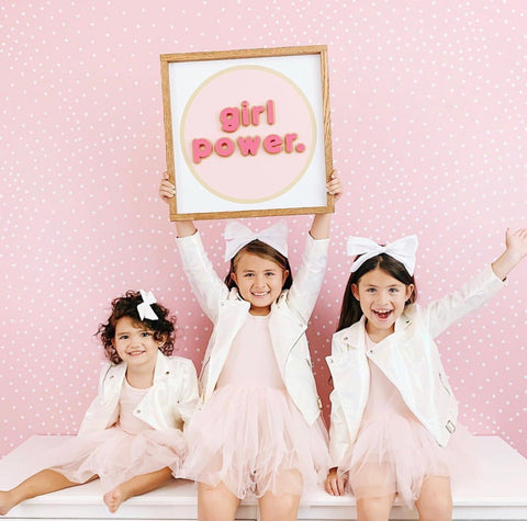 Girl Power- Pink Letters
