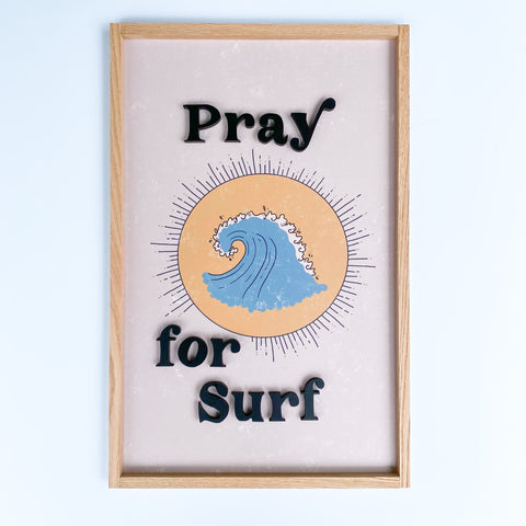 Pray for Surf- blue wave