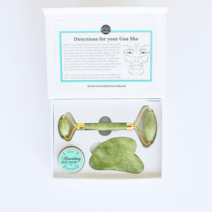 Jade Traditional Beauty Set - Beauty Roller and Gua Sha