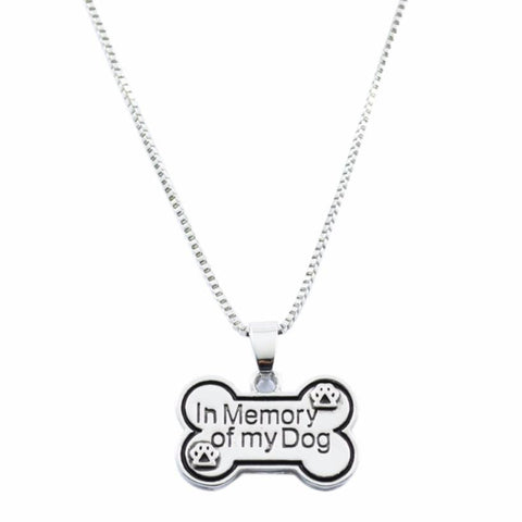 "'in memory of my"" Creative Dog Tag Necklace - FUNKYDOGGIE"