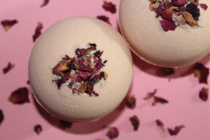 The Paige Collection, bath bomb, bath bombs, vegan, vegan bath bomb, black owned, bath bomb with roses, artisan products, artisan soap, artisan soaps, artisan, gifts for women, gifts for kids, stocking stuffer, handmade bath bomb, artisan bath and body