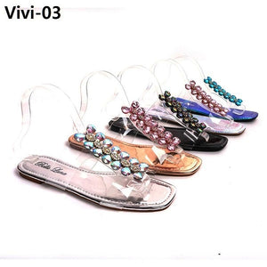 VIVI-03 - Women's Clear Band Slipper Sandals