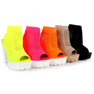 CAMILA-01 Women's Block Chunky High Heels Booties - ShoeTimeStores