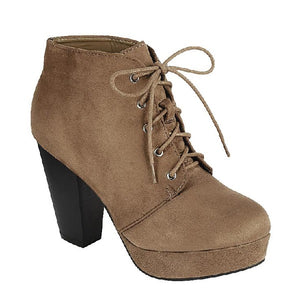 CAMILLE-86 Comfy Fashion Chunky Heels Booties