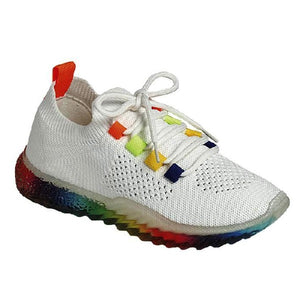 GABBY-68 Women Rainbow Sole Sneaker's Shoes