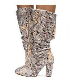 HARIOT-1 Women's Knee High Block Heel Boots - ShoeTimeStores