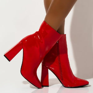 VICTORY-M - Chunky Heel Ankle Booties